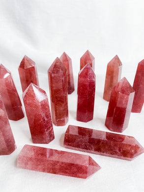 Strawberry Quartz Point small