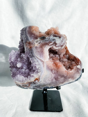 Pink Amethyst Free Form on Stand