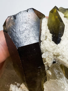 Master Record Keeper Smoky Quartz Cluster