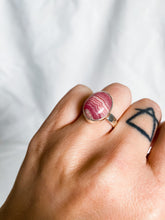 Load image into Gallery viewer, Rhodochrosite Ring Size 7