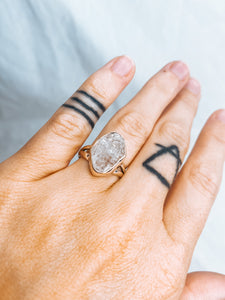 Herkimer Diamond Silver Ring size 7