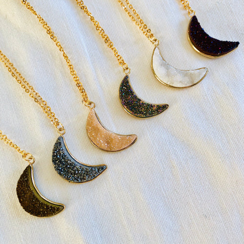 Agate Moon Necklace
