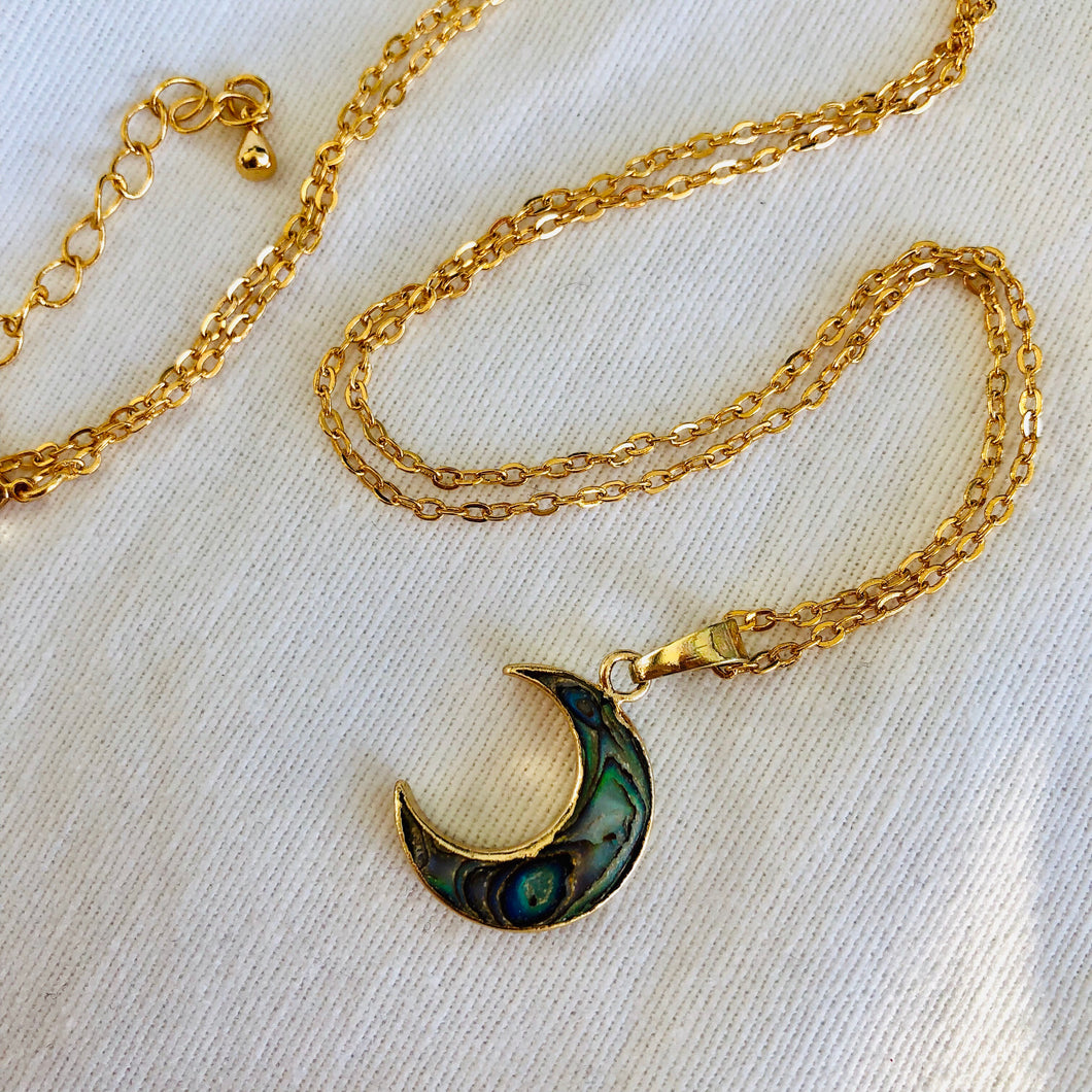 Abalone Moon Necklace