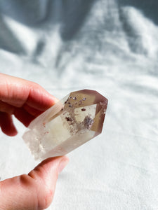 Lithium Quartz Point with Citrine