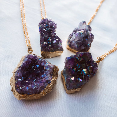 Flame Aura Amethyst Necklace