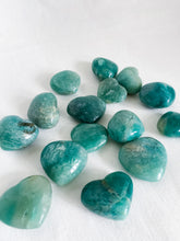 Load image into Gallery viewer, Amazonite Hearts Small