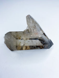 Smoky Quartz Dbl Term with inclusions