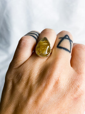 Rutile Gold Ring Size 7