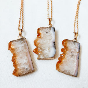 Citrine Slice Necklace