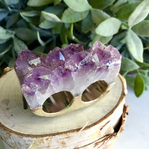 Amethyst Double Ring SizeM+N