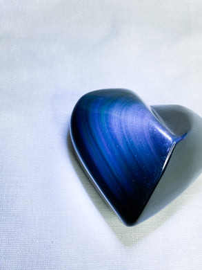 Rainbow Obsidian Heart