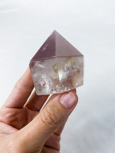 Lithium Quartz Point QA with inclusions
