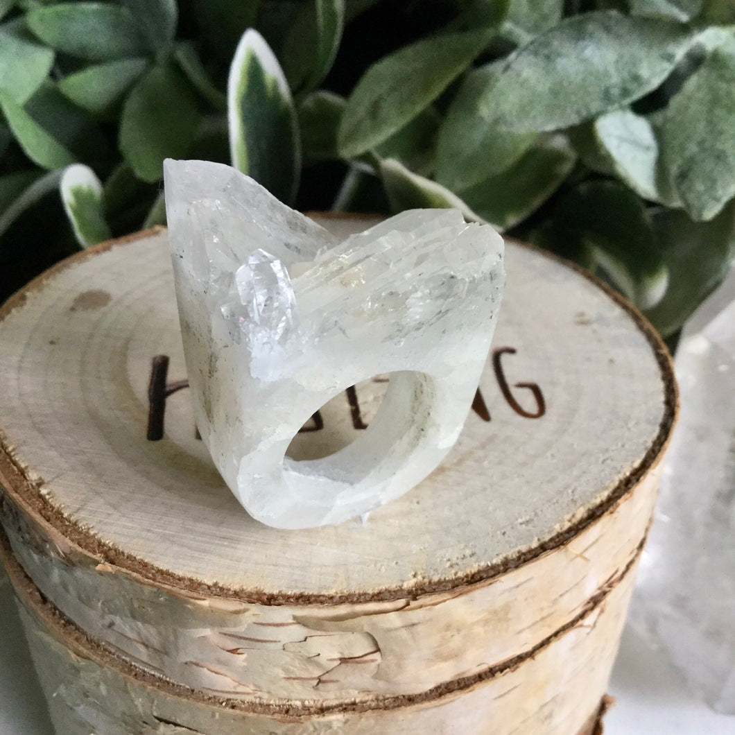 Clear Quartz Ring SizeO
