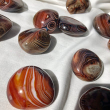 Load image into Gallery viewer, Sardonyx Palm Stones Small