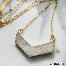 Load image into Gallery viewer, Agate V Druzy Necklace