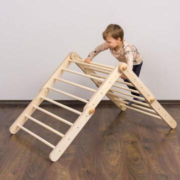 triangolo di pickler montessori in legno per bambini apple pie
