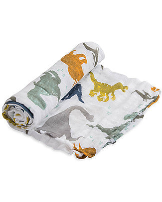 Coperta Swaddle Milleusi - Dino Friends - Apple Pie