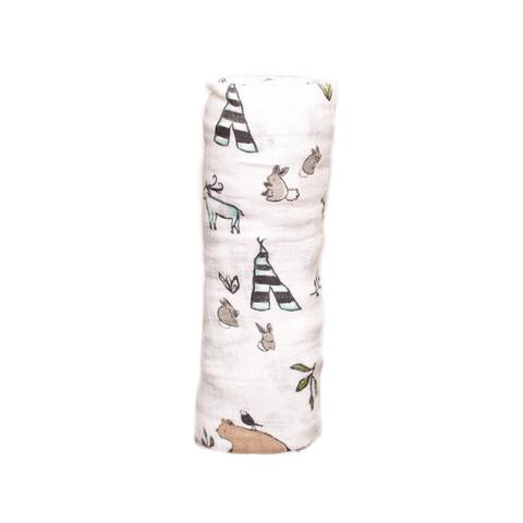 Coperta Swaddle Milleusi - Forest Friends - Apple Pie