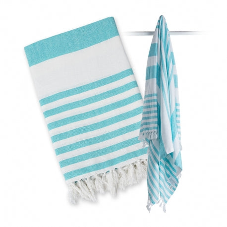Telo Mare Turkish Towel 100 x 150 cm - Azzurro/Bianco - Apple Pie
