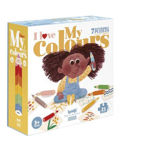 7 Puzzle Reversibili - I Love My Colours - Apple Pie