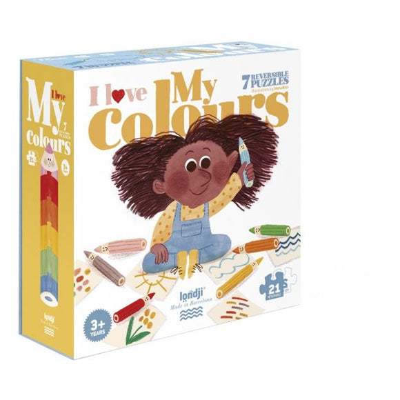 7 Puzzle Reversibili - I Love My Colours Apple Pie