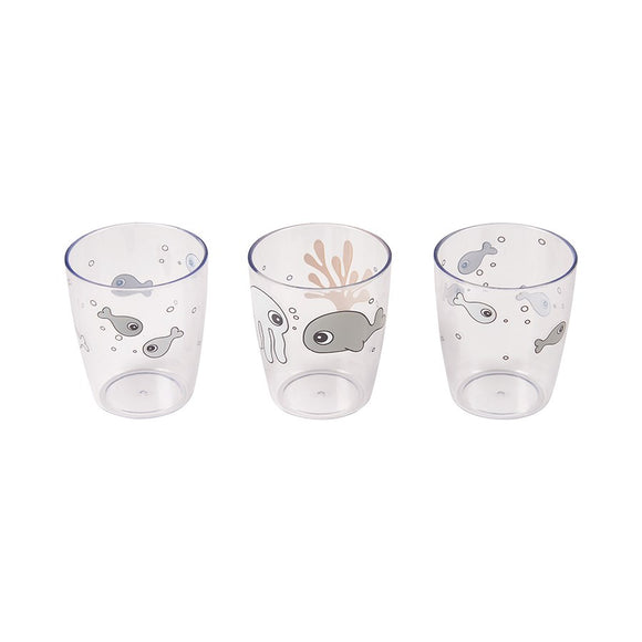 Set di 3 bicchieri Sea Friends - giallo - Apple Pie