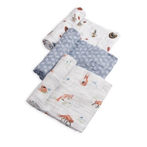 Set Regalo di 3 Coperte Swaddle Milleusi - Volpe - Apple Pie