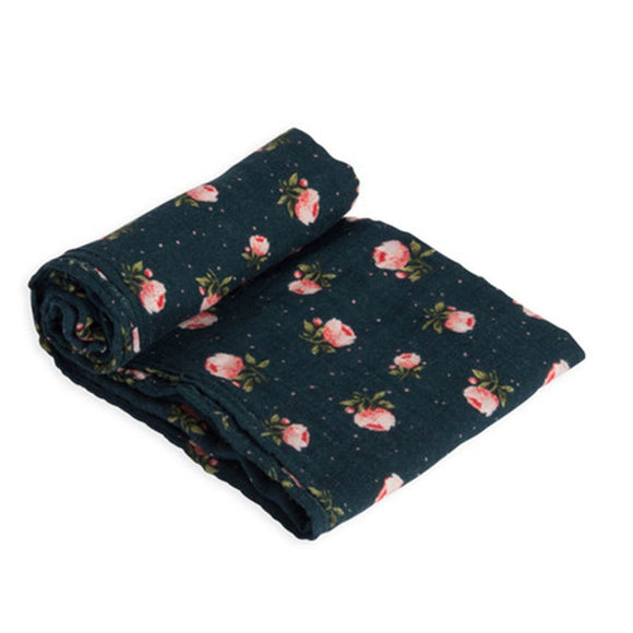 Coperta Swaddle Milleusi - Midnight Rose - Apple Pie