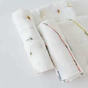 Set di 2 Coperte Swaddle Deluxe - Gone Fishing - Apple Pie