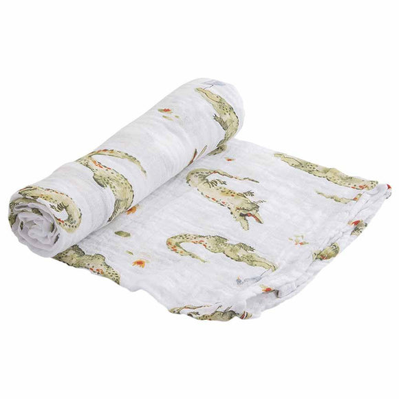 Coperta Swaddle Milleusi - Alligatori - Apple Pie