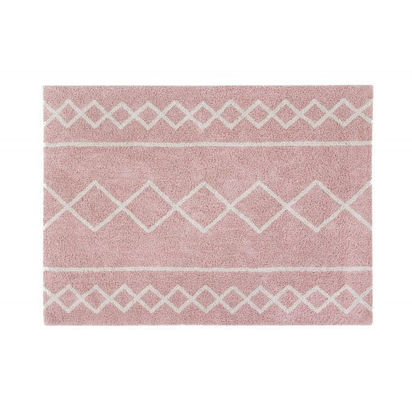 Tappeto in cotone lavabile 120 x 160 cm - Oasis Rosa - Apple Pie