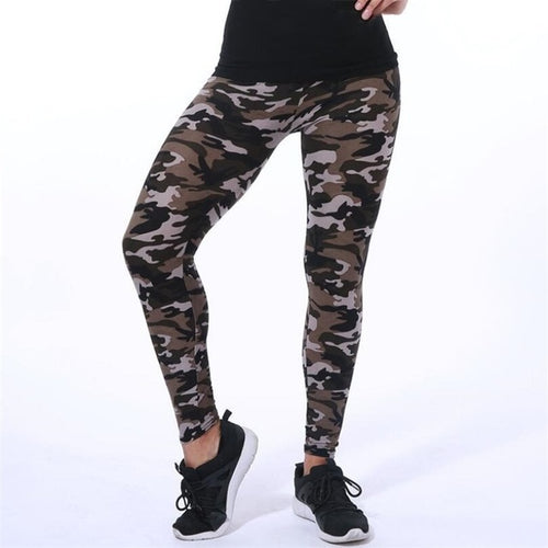 High Waist Camouflage Leggings by OMG Fit