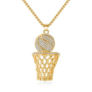 "New 2019 ""I Get Buckets Chain"" Gold + Silver Basketball Chain"