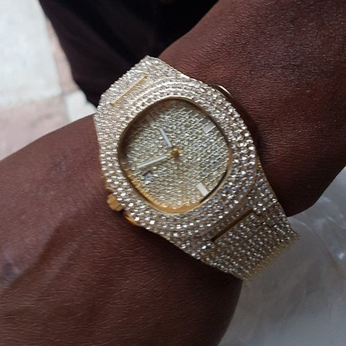 Diamond Encrusted Watch by OMG Ice