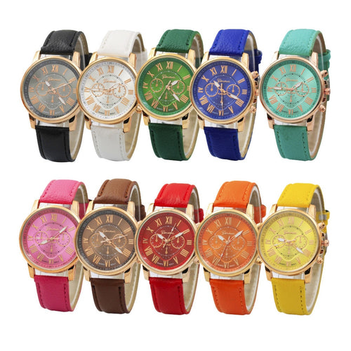 Ladies Leather Wrist Watch