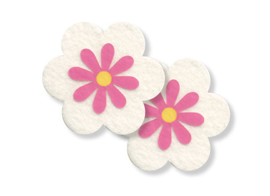 Pastease waterproof Flowers design is 3 inches wide by 3 inches tall