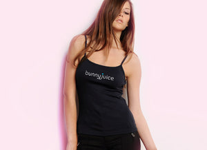 Women's Black Logo Tank with spaghetti straps