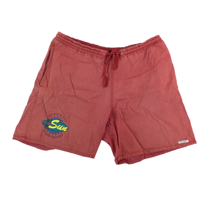Retro Shorts Red - Medium