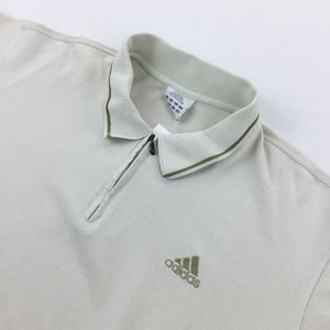 Adidas 1/4 Zip Polo Shirt - Large
