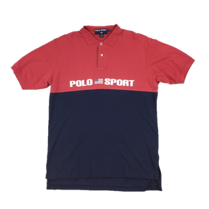 Ralph Lauren 90's 'Polo Sport' Polo Shirt - Large