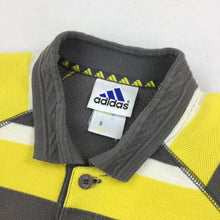 Load image into Gallery viewer, Adidas Striped Polo Shirt - Medium
