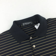 Load image into Gallery viewer, YSL Bootleg Silk Polo Shirt Black - XL