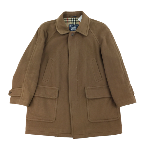 Burberry 90's Wool Coat - Large