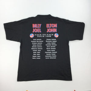 Elton John & Billy Joel 1998 T-Shirt - Large