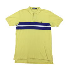 Load image into Gallery viewer, Ralph Lauren Polo Shirt Yellow / Blue - Large