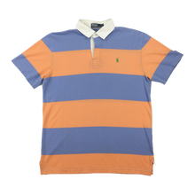 Load image into Gallery viewer, Ralph Lauren Polo Shirt Orange / Blue - Large