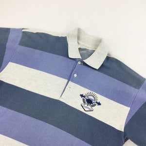 Vintage Löffler Striped Polo Shirt - Large