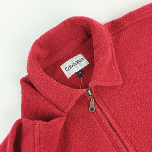Calvin Klein 1/4 Zip Fleece Sweatshirt - Medium