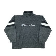 Load image into Gallery viewer, Champion Big Logo 1/4 Zip Sweatshirt - Small