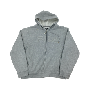 Fila Zip Hoodie Grey - womans/Large